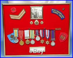 Canada RCASC Corporal WWII Korean War 8 Medals Group w Badges, Pin, Patches