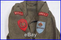 Canadian Korean War Era PPCLI Battle Dress Jacket with Information