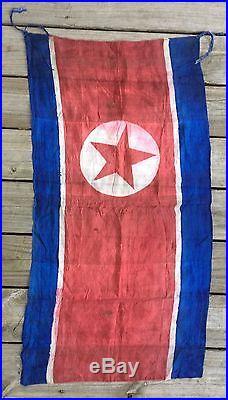 Captured Korean War NKPA Flag North Korean Banner