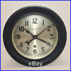 Chelsea Navy Zig Zag Clock USS Inchon Brass 7 Named After Korean War