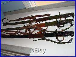 Chinese Communist Swords, Lot of 3, Korean War