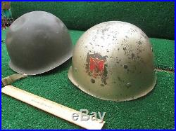 Collectible M1 Type Military Helmet & Liner Dated 1953 Korean War Same Mold as 2