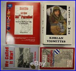 Collection of 4 Korean War History Books Lot Battle 38th Parallel Vignettes