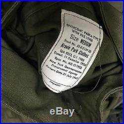 DEADSTOCK Korean War Air Force Parka M47 1950 UNISSUED M Post WWII Jacket Vtg