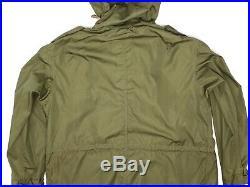 Deadstock M-1951 Fishtail Parka Shell Mens Medium Hooded Dated 1952 Korean War