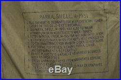 Deadstock US Army 1953 Fishtail Parka Mens Size Large Korean War M-1951 Shell