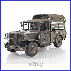Dodge M37 Military Command Truck Metal Model 13 US Army 1950's Korean War Decor