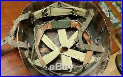 EARLY WESTINGHOUSE STEEL A WASHER PARATROOPER LINER HELMET WW2 WWII Korean war