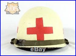 Early Post WW2/Korean War Era US Army Painted Medic Helmet-Named