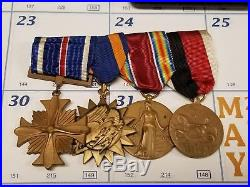 Excellent WW2-Korean War Navy Pilot Medal Grouping Named DFC, AM AND more