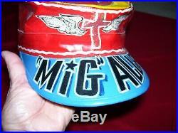 Fantastic Korean War Air Force Chaplin/Pilot Mig Alley Korea Painted Flight Cap