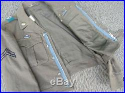Fantastic Montana KIA Korean War Ike Jacket Bullion 1st Cav patch & 7 Cav DI's