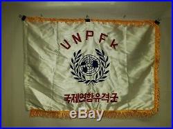 Flag1385 Korean War United Nations Partisan Forces Korea UNPFK silk W11E