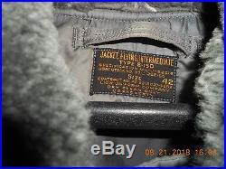 Flight Jacket B15D A2 G1 Vintage WW2 Korean war size 42