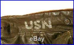 G-1 Leather Cagleco Bomber Flight Jacket US Navy Vintage Korean War 1950's Sz 44