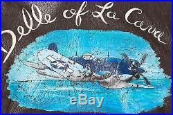 G-1 Ww2 Korean War Black Sheep Painted Flight Aviator Jacket F4u Corsair Usn 36