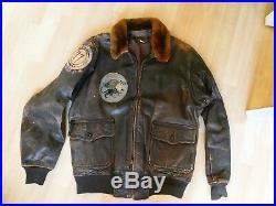 G1 55J44 navy leather jacket korean war VF 831 USS Antietam