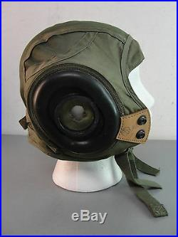 GENTEX NYLON LEATHER PILOT HELMET LINER 40's KOREAN WAR USN U. S. N. CAP MILITARY
