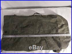 Genuine Korean War 1952 Vintage Collectible Canvas Us Duffel Bag Large