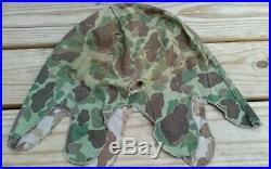 Genuine Usmc Korean War Hbt Camo M-1 Helmet Cover Frogskin 782 Gear