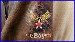 Genuine Vintage WW-2 Korean War Hand Painted A-2 Leather Flight Bomber Jacket