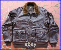 Goodwear Leather-pritzker 55j14 G-1 Model Size 44 Korean War Era Flight Jacket