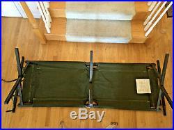 Great Condition Original Korean War (1953/54) Us Army Canvas/wooden Folding Cot