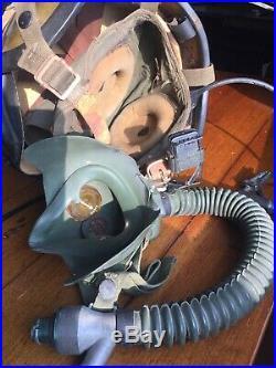 H3 Korean War Navy Jet Pilot Helmet Complete With Avionics And Squadron Patch