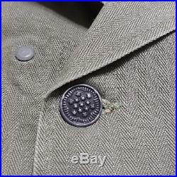 HBT Korean War US Army Patched Shirt JACKET VINTAGE VTG USA 40s OD7 Herringbone