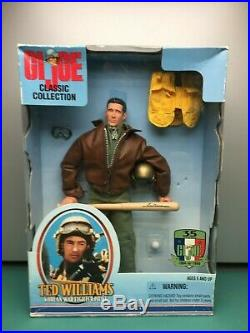 Hasbro G. I. Joe Classic Collection Ted Williams Korean War Fighter Pilot 1990