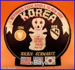 Huge KOREAN WAR Era PATCH 63rd FIELD ARTILLERY BATTALION Skull 38th PARALLEL