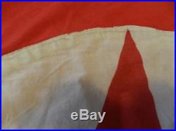 Huge Korean War Flag Captured by a U. S Marine in 1952