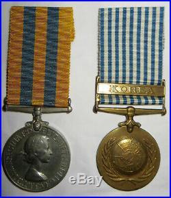 IDd BRITISH ARMY MEDAL GROUP KOREAN WAR The Kings LIVERPOOL REGIMENT Korea UN UK