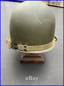 INCREDIBLY RARE KOREAN WAR 24th DIVISION HELMET 34th Infantry Regiment