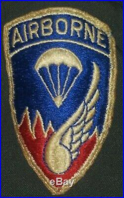 Id'ed Dress Uniform 187th Airborne made both Korean War Parachute jumps RARE