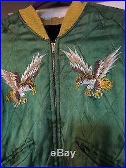Jacket Vintage Korean War Japan Souvenir Reversible