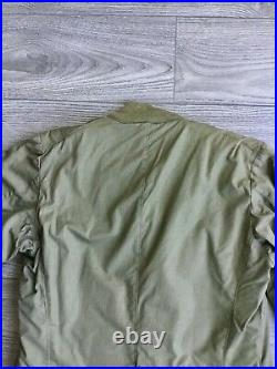 Jacket WW2 Field Pile Liner with Korean War 8th army 2nd infantry patches, named