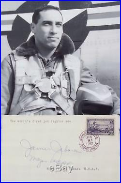 James Jabara Korean War U. S 1st Jet Ace Killed In Crash 1966 Autograph''Rare'