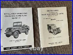 Jeep Willys M38a1 arctic heater kit g-758 1/4 ton Korean War era