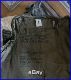 KOREAN WAR NOS US ARMY OG-107 M-1951 FIELD JACKET With NOS LINER
