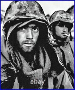 KOREAN WAR U. S. MARINE CORPS M1 HELMET withCAMOUFLAGED