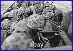 KOREAN WAR U. S. MARINE CORPS M1 HELMET withCAMOUFLAGED COVER