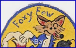 KOREAN WAR US AIR FORCE PATCH 12 Fighter Bomber Squadron ORIGINAL FOXY FEW Rare