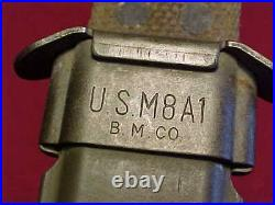 KOREAN WAR US M1 CARBINE BAYONET CAMILLUS WithM8A1 SCABBARD CLEAN ESTATE ITEM