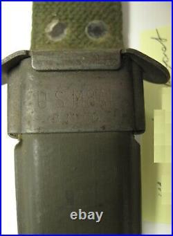 KOREAN WAR VINTAGE US M5 BAYONET Utica / with m8 Scabbard