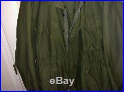 KOREAN War Era US Army M-1951 OD Combat FIELD Jacket Large Regular Near Mint