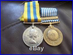 Korea 1950 1953 British & UN Korean War medal Gnr P Shepheard RA