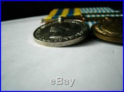 Korea 1950 1953 British & UN Korean War medal pair Gnr J De La Haye RA