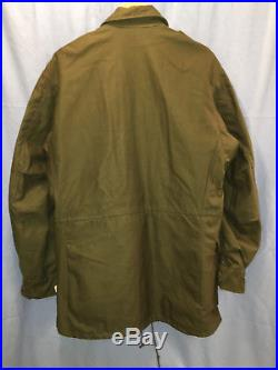 Korea Korean War field jacket shell coat M1951 1951 M-51 NOS NEW w cutter's tags