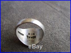 Korea Korean war era 7th Army Division sterling Ring 10.5